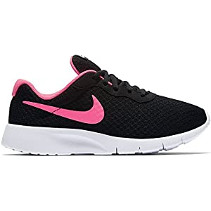 NIKE Kids Tanjun (GS) Black/Hyper Pink White Running Shoe (7 M US Big Kid)