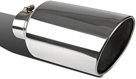 "Bolt-On 15/"" Chrome Stainless Steel 4/"" Inlet 8/"" Outlet Truck Exhaust Muffler Tip"