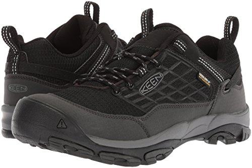 KEEN Men's Saltzman WP-M Hiking Shoe, Black/Raven, 8 M US