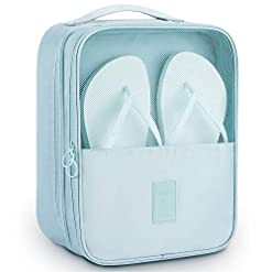 Travel Junkie 415z2SnkzHL._SS247_ Mossio Shoe Bag Holds 3 Pair of Shoes for Travel and Daily Use Storage Pouch
