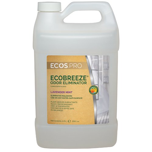 1 Gal. Earth Friendly Products ECOS PRO EcoBreeze Odor Eliminator, Lavender Mint (4 Bottles/Case) - BMC-EFP PL9836/04 by ECOS PRO