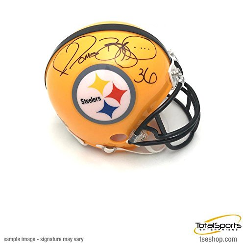 Jerome Bettis Signed Mini Helmet - 75th Anniversary - Autogr