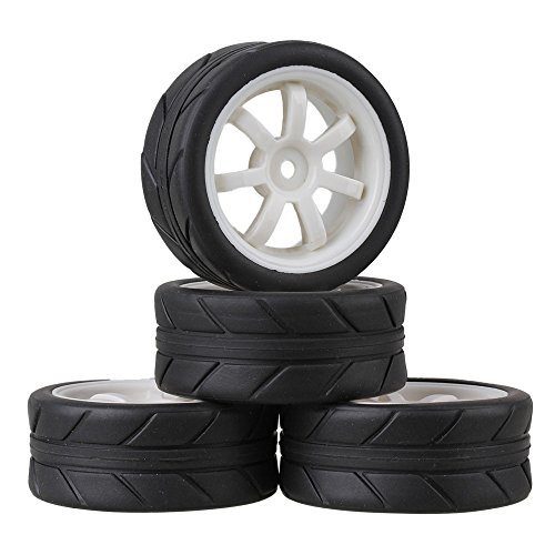 Mxfans Silver Upgrade Aluminum Alloy Wheel Rims Y-shape Fit For Rc1:10 On-road Racing Car & Drift Car Pack Of 4 Parts & Accessories Toys & Hobbies