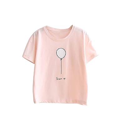 fc2fa067cd8 T-Shirts à Manches Courtes Femmes T-Shirt à Motif de Chat pour Filles Top à  ...