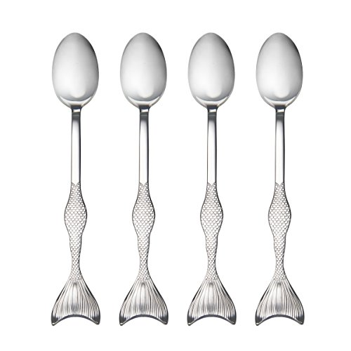 (Wallace 5228040 Mermaid Iced Beverage Spoons One Size Stainless Steel)