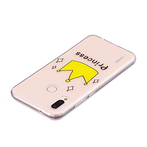 Cover para Huawei P20 Lite / Huawei Nova 3E , WenJie corona Transparente Encantador y de alta calidad Regalo TPU Silicona Suave Funda Case Tapa Caso Parachoques Carcasa Cubierta para Huawei P20 Lite /