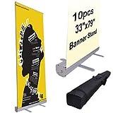 Wholesale 10pcs 33'' x 79'' Rollup Retractable Banner Stands
