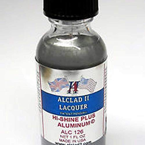 Alclad II Lacquers High Shine Plus Aluminum 1oz, ALC126