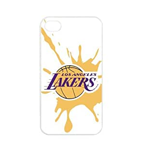NBA Los Angeles Lakers Logo Case For Samsung Galaxy S5 Cover PC Soft s for basketball Lakers fans (White)