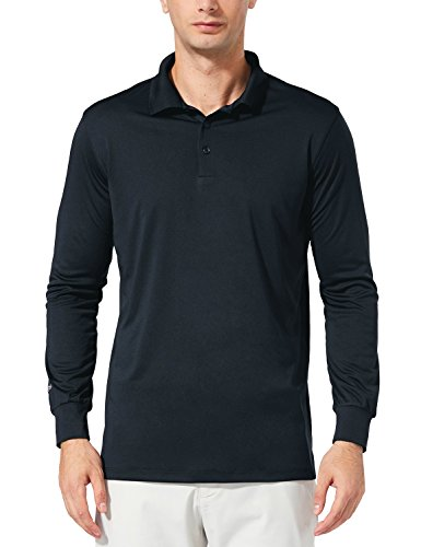 Baleaf Men's UPF 30+ Performance Quick Dry Golf Solid Polo Active Shirt