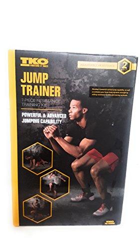 TKO Jump Trainer, Vertical Jump Trainer - Jump Training - Resistance Band, 7 piece (The Best Vertical Jump Program)