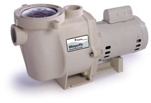 Pentair 011515 WhisperFlo High Performance Energy Efficient Single Speed Full Rated Pool Pump, 2 Horsepower, 208-230 Volt, 1 Phase Pentair Whisperflo Pool Pump
