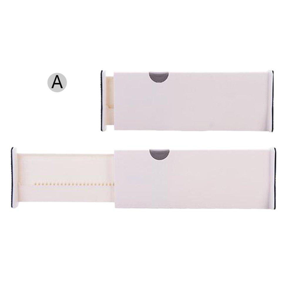 Sundlight Plastic Drawer Dividers Adjustable Storage Organizers for Kitchen Bathroom Bedroom Dresser