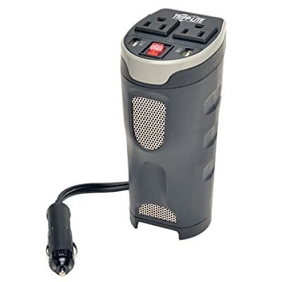 Tripp Lite 200W Car Power Inverter with 2 Outlets & 2 USB Charging Ports, Cup Holder Design, Auto Inverter (PV200CUSB): Home Audio & Theater