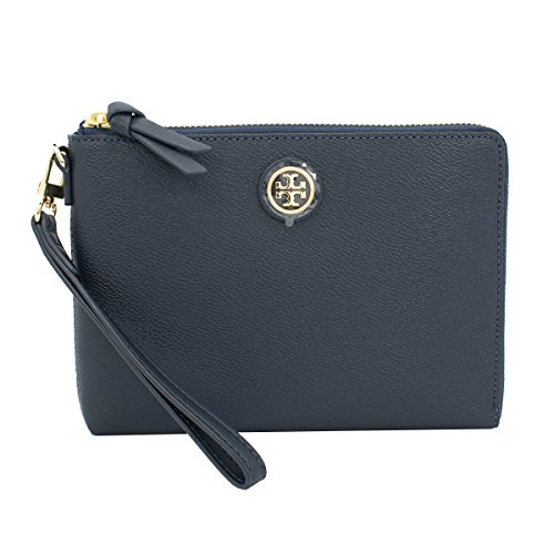 Tory Burch Cameron Grainy Vinyl Wristlet Purse, Style No. 34039, Tory Navy by Tory Burch