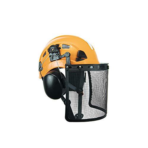 Defender Safety H1-CH Orange Safety Helmet Forestry Kit ANSI Z89.1