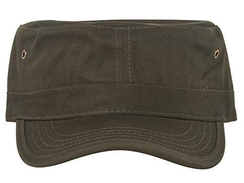 (Enzyme Regular Solid Army Caps-Olive W35S45D (One Size) )