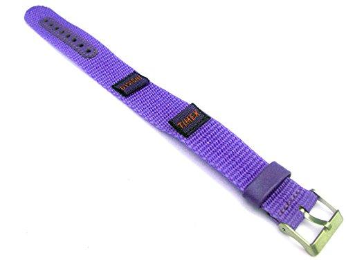 Timex Indiglo Nylon Wrap Around Purple Watch Strap Fits 15-20 Millimeters (15mm Nylon Watch Band)