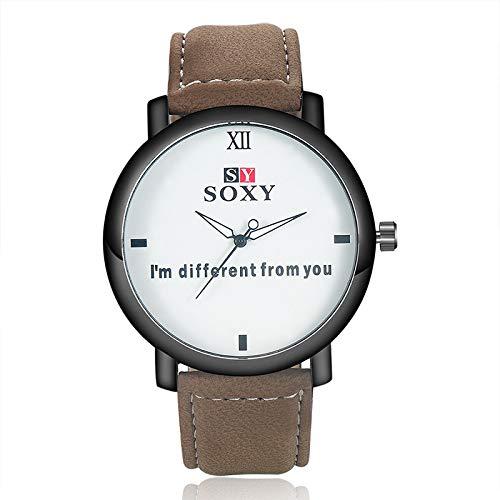 HWCOO Hermoso Relojes de Pulsera 2018 Reloj Deportivo de Moda Reloj de Cuero SOXY (Color