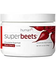 humanN Superbeets Circulation Superfood | #1 Best Seller Concentrated Beet Powder with Nitric Oxide Boosting Supplement, 5.3 Ounces, Black Cherry Flavor