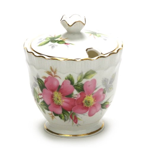 Canadian Provincial Flowers by Royal Adderley, China Jam Pot