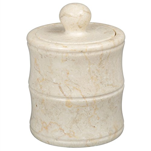 - Creative Home Champagne Marble Panda Cotton Ball Holder