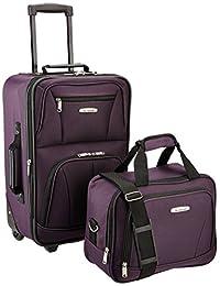 ROCKLAND Luggage 2-Piece Set, Purple, One Size