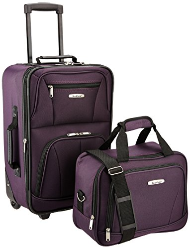 Rockland Luggage 2 Piece Set, Purple, One Size