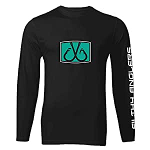 Filthy Anglers Long Sleeve Performance UPF Fishing Shirt : Bamboo Material : Lightweight UV Protection - Multiple Options, Mens, Black, 2X