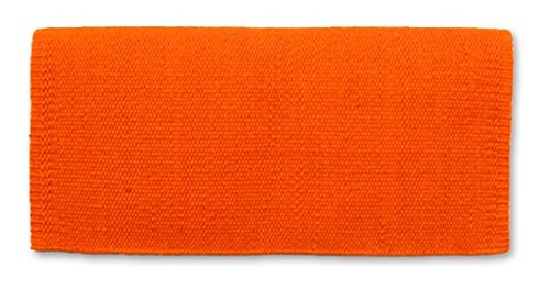 Mayatex San Juan Solid Saddle Blanket, Orange, 36 x (Horse Saddle Blanket Pad)