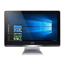 "Acer Aspire Z20-730 Desktop PC, Display LED LCD 19.5"" FHD, Processore Intel Pentium Quad-Core J4205, RAM 4GB, HDD 500 GB, Intel HD Graphics, Argento"