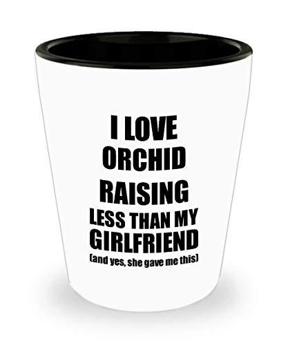 Orchid Raising Boyfriend Shot Glass Funny Valentine Gift Idea For My Bf From Girlfriend I Love Liquor Lover Alcohol 1.5 Oz Shotglass ()