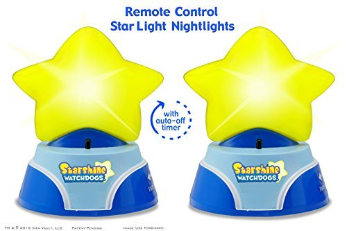Starshine Watchdogs Remote Control Star Light Nightlights for Kids. Limited Edition 2-Pack, Works w/ Award-Winning Starshine Watchdogs Plush Toys by Starshine Watchdogs Authorized Seller B01775BAA4