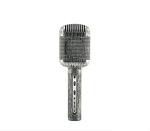 CCLOON Retro Wirelss Bluetooth Karaoke Condenser Microphone MIC with Built-in HD Speaker Noise Canceling for Studio Broadcasting Youtube Podcasting Home KTV - Studio Retro