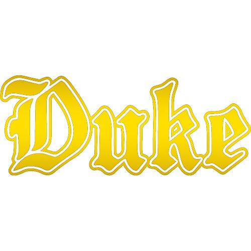 - South Orange New Jersey Basketball Duke University (METALLIC GOLD) (set of 2) Premium Waterproof Vinyl Decal Stickers for Laptop Phone Accessory Helmet Car Window Bumper Mug Tuber Cup Door Wall