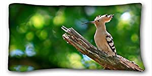 Generic Personalized Animal Custom Cotton & Polyester Soft Rectangle Pillow Case Cover 20x36 inches (One Side) suitable for Full-bed
