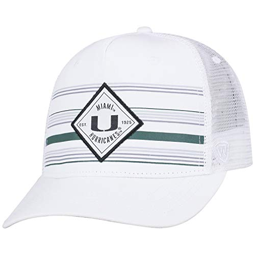 Top of the World Miami Hurricanes Official NCAA Adjustable 36th Ave Hat Cap Curved Bill Mesh 390758 - Miami Hurricanes Hat Cap
