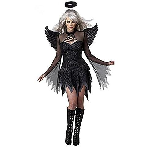 Halloween Costume For Women Dark Angel Cosplay For Girls Black Fallen Angel Dresses Party costume - Sexy Black Slinky