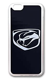 iPhone 6 Case - Clear Soft TPU Back Cover with Dodge Viper Car Logo 6 Print for iPhone 6 Scratch-Resistant Clear Slim Fit Cover for iPhone 6 4.7 Inches