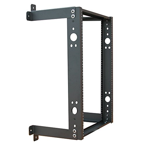 (Quest Manufacturing Open Frame Wall Rack, 20 Unit, 3' x 12