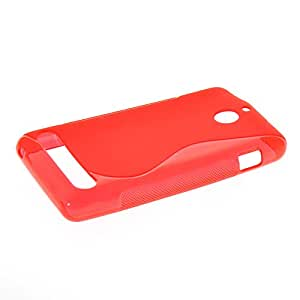 KCASE S-Line Soft Gel TPU Silicone Back Case Cover For Sony Xperia E1 Red