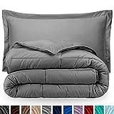 Comforter Sets King Luxury Bare Home Comforter Set - King/California King - Goose Down Alternative - Ultra-Soft - Premium 1800 Series - Hypoallergenic - All Season Breathable Warmth (King/Cal King, Light Grey)