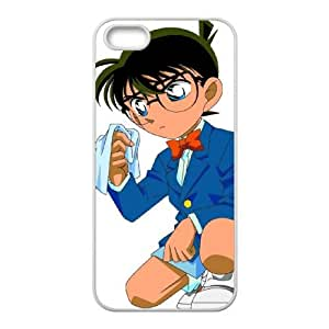 Detective Conan iPhone 5 5s Cell Phone Case White DIY Gift pxf005-3579277