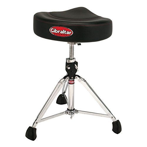 - Gibraltar 2 Tone Motorcycle Style Drum Throne (All Black) 96082T
