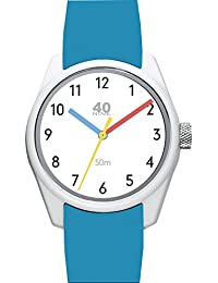 Men's 'ECLECTIC' Quartz Plastic and Silicone Casual Watch, Color:Blue (Model: 40N3.9B)