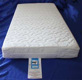 new product 6062f 08a57 NightyNite™ Pocket Sprung Cot Bed Mattress 130 x 70 x 10 with Luxury  Quilted Cover and waterproof protective liner
