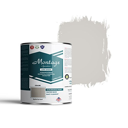 Montage Signature Interior/Exterior Eco-Friendly Paint, Dove Gray - Low Sheen, 1 Gallon ()