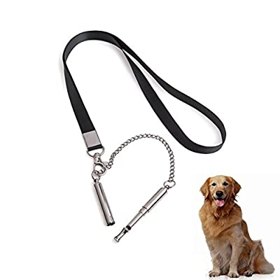 B-sea Stainless steel Dog training whistle Adjustable Frequency Dog Whistle by B-sea