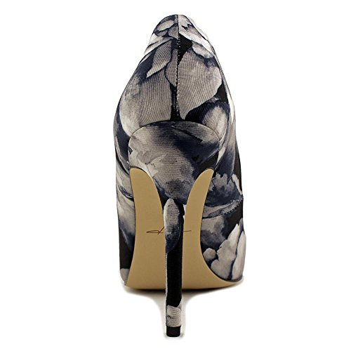 Daya Di Zendaya Atmore Dress Pumps - Nero Bianco Floreale, 6,5 Us