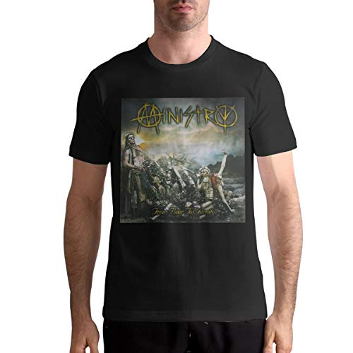 Ministry from Beer to Eternity Mans Classic Sports Round Neck Short Sleeve T-Shirt 3XL Black